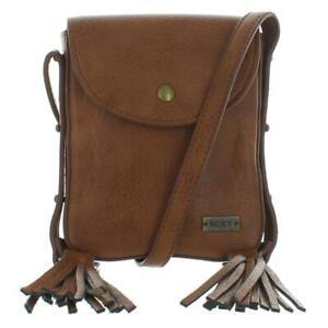 Roxy Womens Friday Feeling Tan Faux Leather Shoulder Handbag Small BHFO 1396
