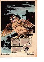 Cpa Chantecler d Edmond Rostand illustration Roberty La Chouette