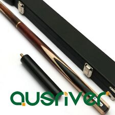 9.8mm Tip Wooden 3/4 Split Billiards Pool Snooker Cue + Case Gift