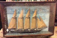 Antique Sailing Ship Diorama