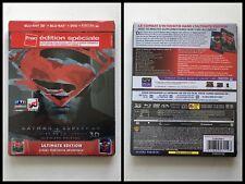 Batman v Superman Blu-ray 2D + 3D + DVD Steelbook Limited Edition FNAC 2016