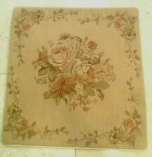 "18"" NeedlePoint-PetitPoint Pillow Cushion Sham with Piping Cinnamon DM-16"