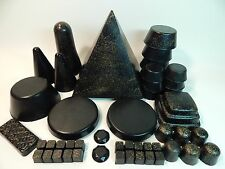 Orgone Home Grid 47Pc w/XL Black Sun Pyramid Tower Busters Quartz Crystals