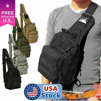 Men Tactical Backpack Molle Sling Chest Shoulder Bag Assault Pack Messenger Bag