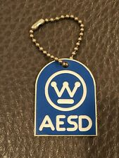 Vintage 1970s Westinghouse Advanced Energy Systems Division Keychain AESD