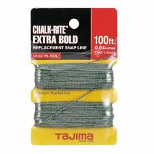 Tajima Pl-Itol Chalk-Rite Extra Bold Braided Replacement Chalk Line, 1.0 mm x