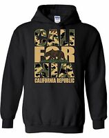 Cali For Nia Camouflage HOODIE Sweatshirt sweater hooded California Republic