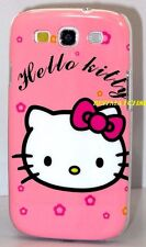 for samsung galaxy s3 pink hot pink bow case hello kitty kitten siii / SIII