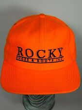 Vintage 1990s ROCKY SHOES & BOOTS ADVERTISING Hunting Orange SNAPBACK HAT CAP