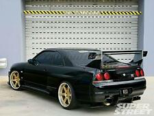 FRP Kit For 95-98 Nissan R33 GTR Top-Secret 3pcs Rear Diffuser w Metal Fitting