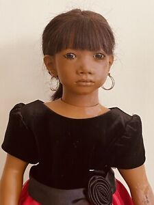 "ANNETTE HIMSTEDT PANCHITA DOLL 26"" TLC INCLUDES STAND AND ACCESSORIES"