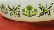 "ANCHOR HOCKING - FIRE KING MEADOW GREEN #429 - 9"" CASSEROLE BAKING DISH!"