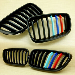 FOR BMW F22 F23 F87 M2 STYLE M COLOR MATTE BLACK FRONT HOOD GRILLE 2014-17 ABS