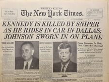 1963 - Nov 23 - The New York Times - Kennedy Killed By Sniper in Dallas Rare OOP