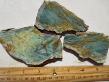 800  GARY GREEN JASPER SLABS, PETRIFIED BOG.  GREAT FOR CABS, NICE MATERIAL