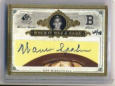 WARREN SPAHN 2006 SP Legendary Cuts When it Was a Game CUT AUTO /78 BRAVES HOF**