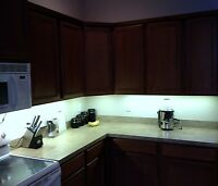 Kitchen Under Cabinet Professional Lighting Kit COOL WHITE LED Strip Tape Light
