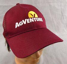 AgVenture Snapback Hat Adjustable Cap Farmer Trucker Crimson Red Mesh NEW Maroon