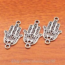 20pcs 27*15mm Charms Hamsa Pendants Tibetan Silver Jewelry Bracelet E7166