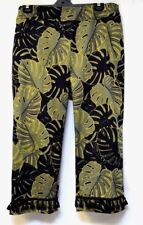 plus sz M / 20 VIRTU TS TAKING SHAPE La Palma Crop Pants stretch cotton NWT!