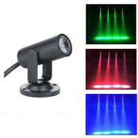 RGBW 1W LED Stage Lighting Spin Pinspot Light Beam Spotlight Party DJ DISCO DMBB