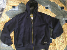 WALLS Workwear Hooded Hoodie Coat Jacket Lined Insulated Sz L Blue