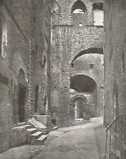 D0064 Perugia - Scorcio caratteristico - Stampa d'epoca - 1932 old print