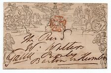 May date Mulready 16th May 1840 Royal Yacht Squadron seal - Cowes Isle of Wight