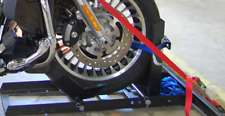 Motorcycle Stand Wheel Chock Adjustable Upright 1800lb Capacity