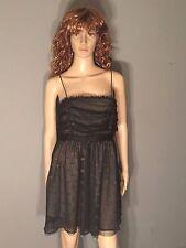 Miley Cyrus Max Azria Brand Womens Size Large L Black Gold Dots Circles Dress
