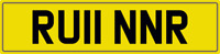 RUNNER RUINER NUMBER PLATE CAR REGISTRATION RU11 NNR WITH FEES ALL INCLUDED RUN