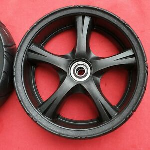 Genuine Masport Black Mag 200mm / 8 Inch Lawn Mower Wheel 573703 and Bearings