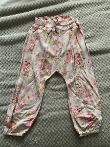 Children Girls Next 3-4 Years Baggy Trousers Floral Flower Cotton Summer