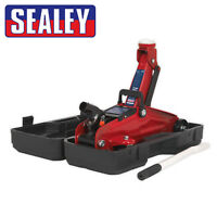 Sealey 2T Hydraulic Trolley Jack (2 Tonne) Short Chassis with Moulded Case