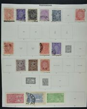 INDIAN STATES, a collection on 9 album pages, mainly used condition.