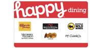 $25 Happy Dining Gift Card - E-mail Delivery Or Physical Card