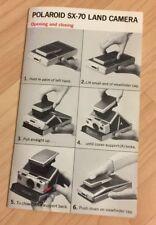 Polaroid SX-70 Instruction Manual - Vintage 1973 Land Camera Film Photography