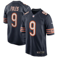 Brand New 2020 NFL Nike Chicago Bears Nick Foles #9 Game Edition Jersey NWT