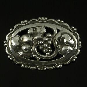 Georg Jensen Art Nouveau Sterling Silver Brooch #177A