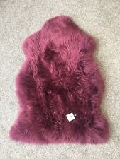 Genuine Real Sheepskin Rug in Purple Fluffy and Plush XL