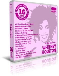 16 Backing Tracks MP3 In The Style Of WHITNEY HOUSTON. Pendrive. Listen Demos