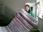 31 X 50 INCH MULTI-COLORED HOME MADE RAG RUG