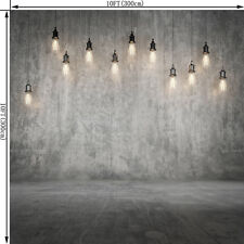 10X10FT Wall Floor Bulb Vinyl Backdrop Photography Photo Studio Background WF24
