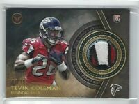 2015 Topps Valor Tevin Coleman Jersey PATCH RC, SP #/99, Falcons Rookie!