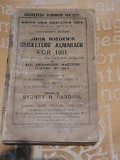 1911 Wisden Cricketers' Almanack Softback Edition Very rare original covers
