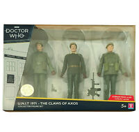 Doctor Who U.N.I.T.1971 Claws Of Axos Limited Edition Collector Figures Set