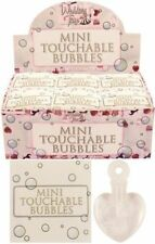 48 x Mini Touchable Bubbles Wedding - Favour Decoration Hearts