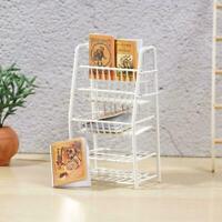 1/12 Puppenhaus Miniatur Möbel Moderne Weiße Holzvitrine Praktisch M0C0