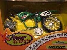 Ertl Mountain Dew Kawasaki 1:9 KX 125 Die-Cast MIB