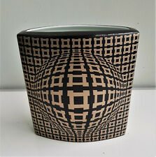Victor Vasarely-Rosenthal Vase-VEGA BLACK-Nr 118/300-Perfect condition